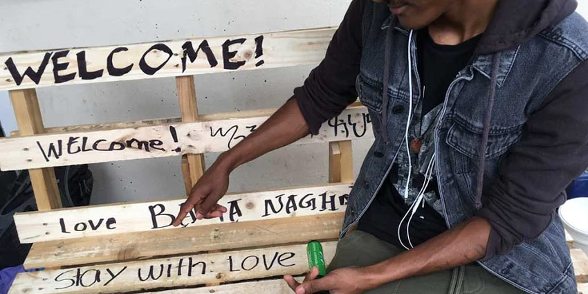 Making 'Stay With Love' outdoor pallet benches